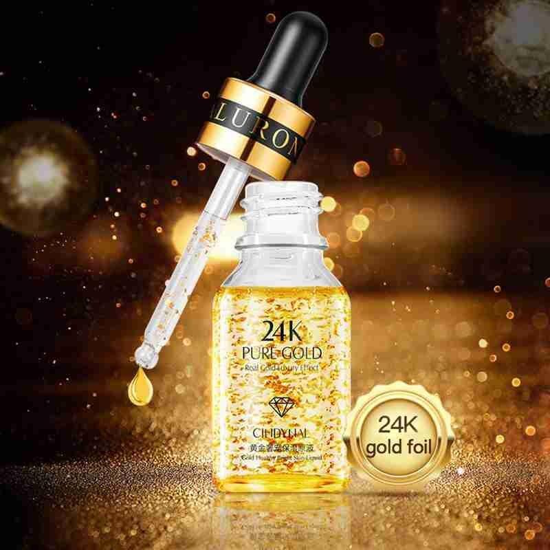 1 Pc 24K Gold Luxury Moisturizing Face Liquid Serum Oil-control Anti Aging Wrinkle Brightening Skin Care Whiten Liquid