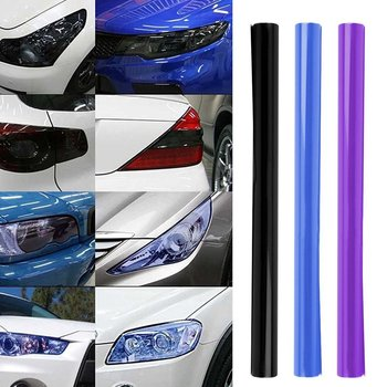 DIY 60inch x 12inch Waterproof Car Smoke Fog Light Headlight Taillight Tint Vinyl Film Sheet Car-Covers Car Sticker Car Styling image