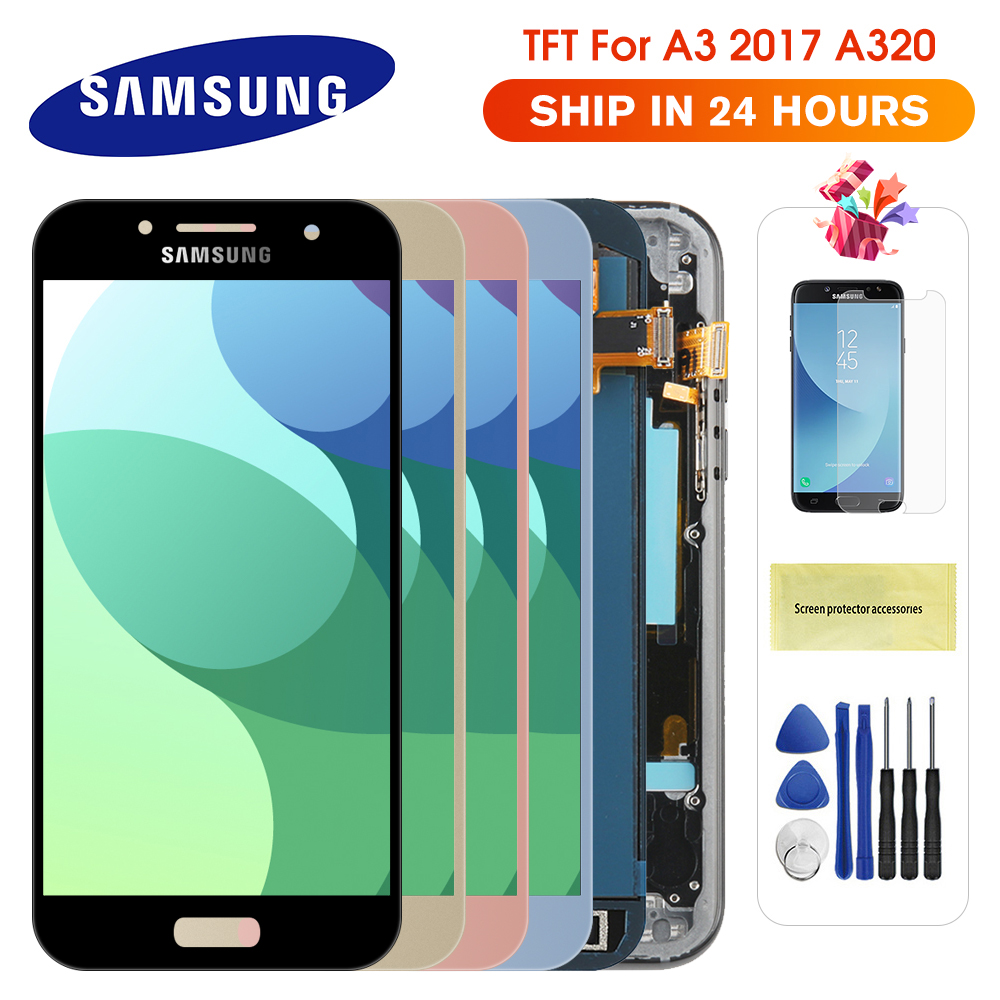 For Samsung Galaxy A3 2017 LCD A320 SM-A320F A320M A320Y LCD Display Touch Screen Digitizer Assembly For A3 A320 LCD Screen(China)