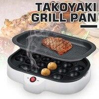 220v 800W Professional Octopus Ball Maker Takoyaki baking Machine Mini Electric Stove Cooking Plate Grill Pan