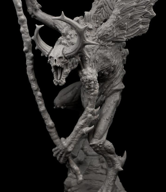 Resin Figure Model Kit Unassambled 230mm ancient fantasy warior stand with wing (WITH BASE )     Unpainted collect Figure 4