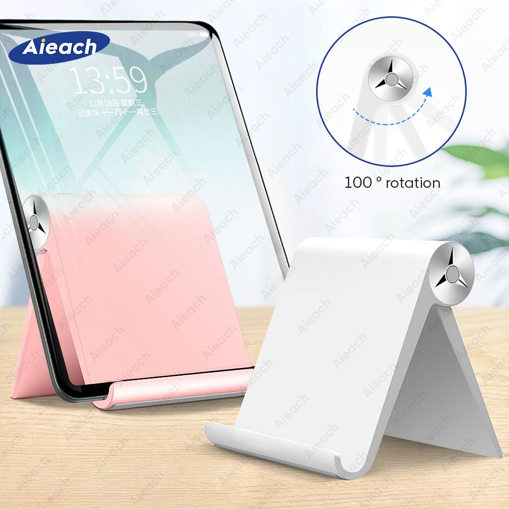 Aieach Adjustable Fold Portable Tablet Stand For IPad Stand Desktop Tablet Holder For Xiaomi Samsung Huawei Tablet 7.9 - 11 Inch