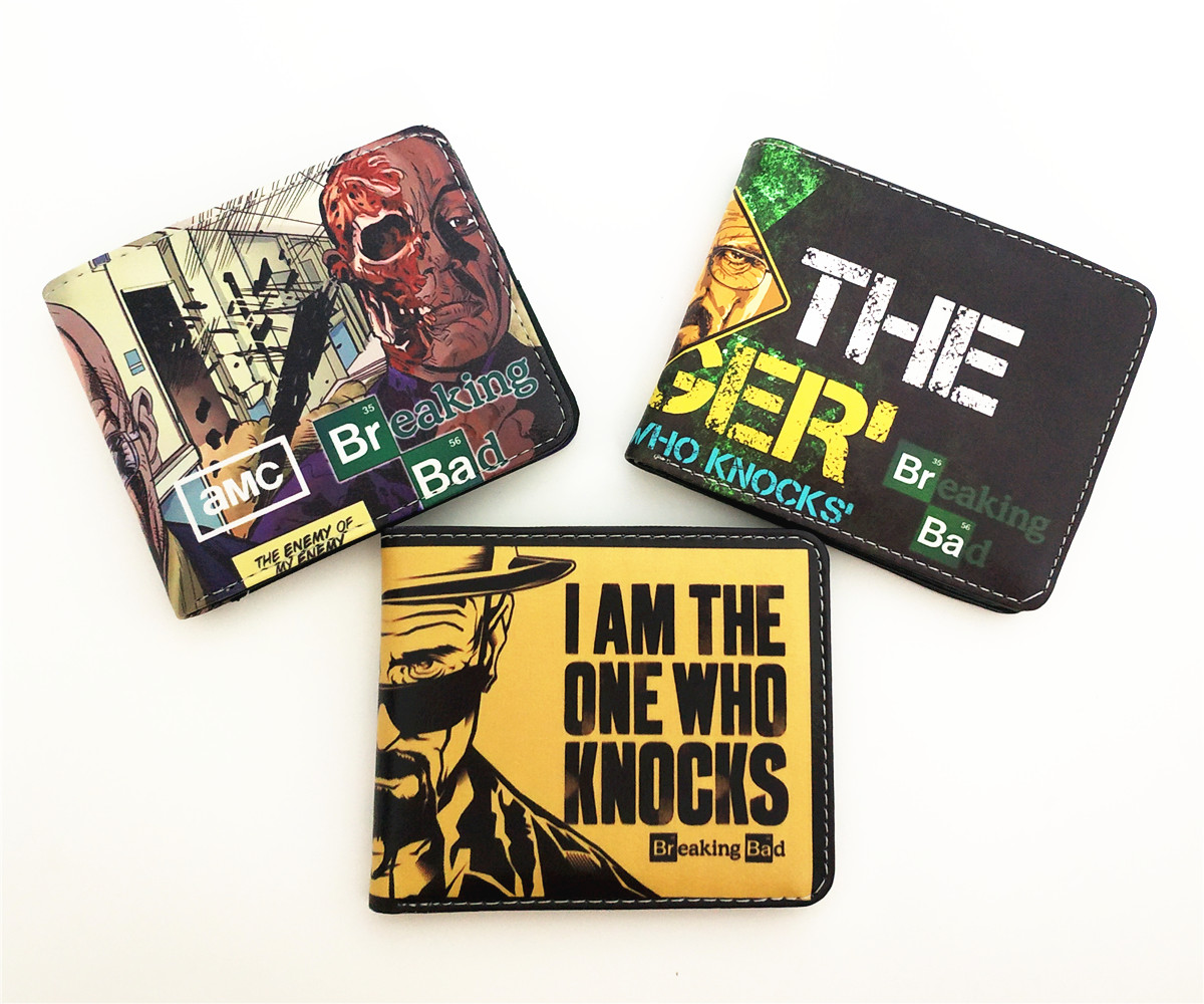 TV Series Breaking Bad Men Wallet Faux Leather Zipper Coin Purse Unisex Wallets ID/Credit Card Holder image