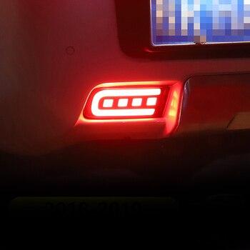 For Toyota Land Cruiser Prado FJ150 2010-2019 12V Car LED Rear Fog Lamp Bumper Light Brake Light Flowing Turn Signal Reflector
