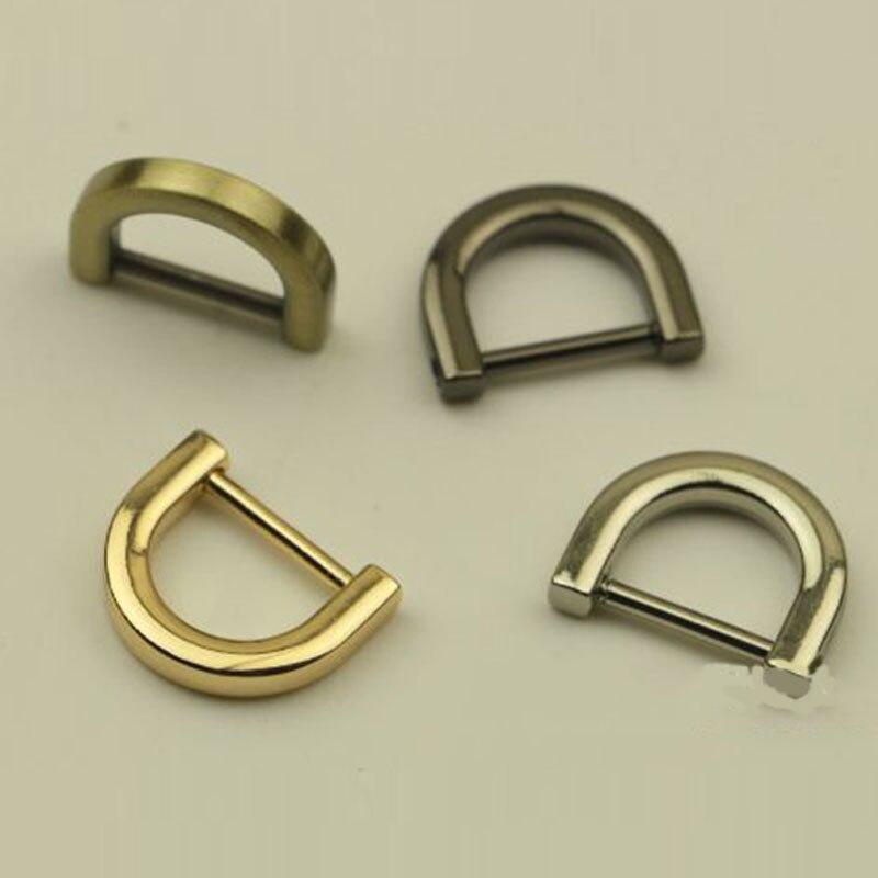 Fashion 1.2/1.5CM Metal Detachable Open Screw Clasp Bag Strap Belt D Ring Buckle DIY Accessory Metal Bag Hange Bag Purse Ring