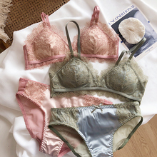 Womens Lace Set Satin Silk Sleepwear Bra+ Shorts Pjs Nightwear Pajamas Set Underwear girls Sets lash bras with pad 2020 Lingerie