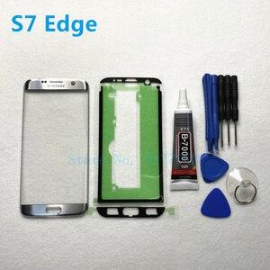Image 4 - Front Outer Glas Linse Panel ersatz Für Samsung Galaxy S7 Rand G935 G935F S7 G930 G930F LCD touch screen + b 7000 kleber Werkzeug