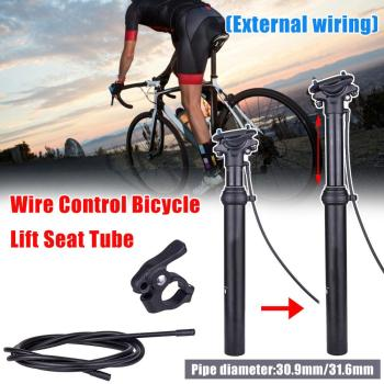 External Running Mountain Bike Dropper Seatpost Hydraulic Lifting Road Bicycle 31.6/30.9 mm Hand Remote Control Seat Tube Post the new hydraulic suspension mountain bike aluminum seat tube diameter 31 6 seat post 350mm