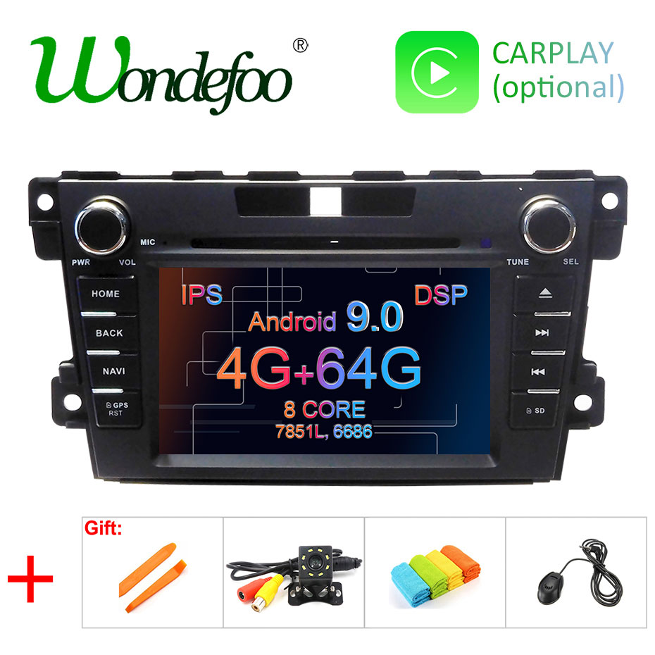 IPS 4G 64G Android 9 0 DSP AV Output 2 DIN DVD PLAYER For mazda cx