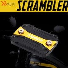 ใหม่แฟชั่นอุปกรณ์เสริมเหมาะสำหรับDUCATI Scrambler 400 800 Sixty2 Mach 2.0 รถจักรยานยนต์รถจักรยานยนต์ทองเบรคอ่างเก็บน้ำฝาครอบ