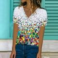 Женская летняя модная футболка с принтом, футболка с длинным рукавом размера плюс с коротким рукавом повседневные свободные женские топы