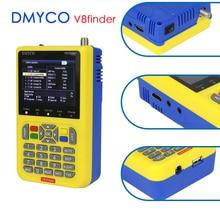 DMYCO V8 de DVB S2 DVB S TLC de satélite Digital medidor satfinder detector satelital HD herramienta TFT LCD se sentó de lnb medidor de señal