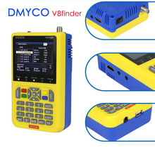 Dmyco v8 finder DVB S2 DVB S fta satfinder satélite digital medidor hd ferramenta localizador de satélite tft lcd sat finder lnb sinal medidor