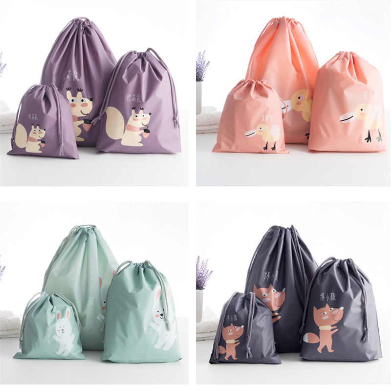 Waterproof Travel Cosmetic Bag Women Cosmetic Organizer Makeup Bags Wash Bag Large Capacity Drawstring Storage Toiletry Box