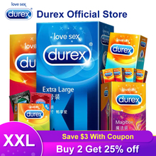Durex XXL Condom Ultra Thin Condoms Plus Size Intimate Goods  Sex Products Natural Rubber Penis Cock Sleeve For Men