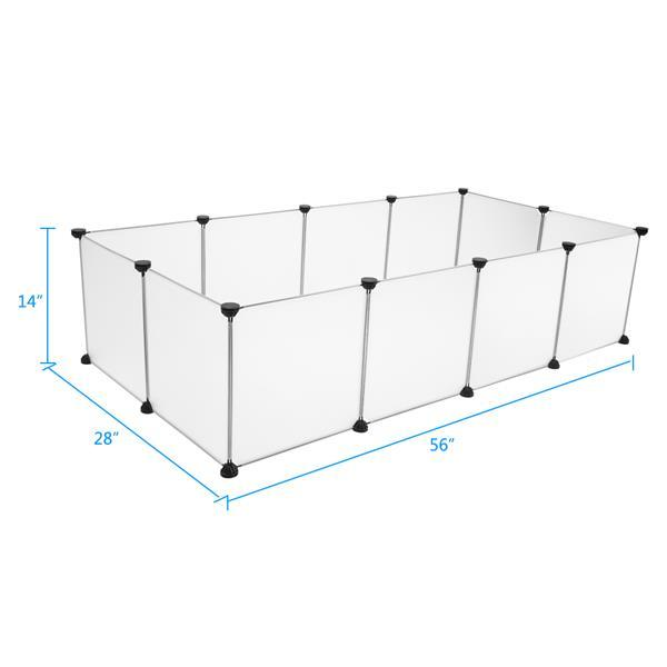 Small Animals Cage Indoor Portable Large Plastic Yard Fence for Small Animals,Rabbits,Puppy Kennel,Crate Tent Pet Playpen 5