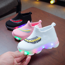 Hot sales 2019 5 stars excellent children sneakers LED lighting kids casual shoes breathable baby girls boys shoes серьги алькор 02 1535 00gr 00