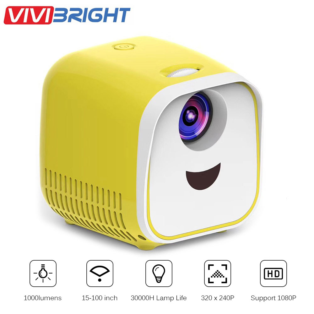 L1 Mini projecteur Portable 1000 Lumens home cinéma prise en charge Full HD 1080P HDMI USB Mini projecteur Home Media Player