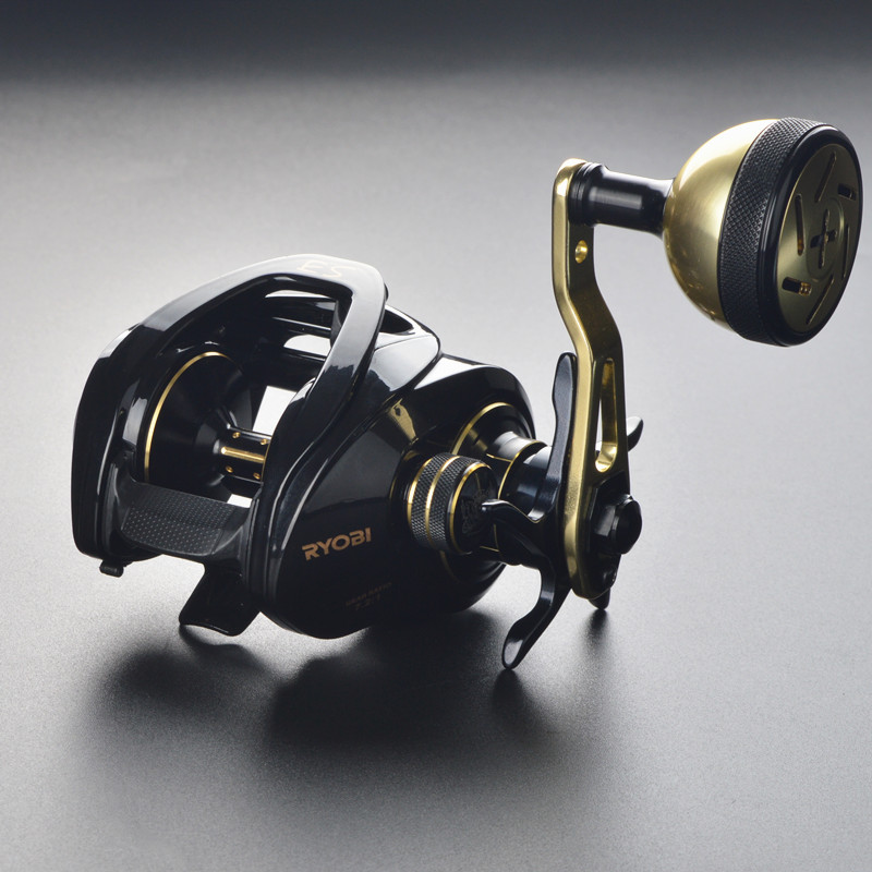 RYOBI ES lightweight slow jigging wheel 9+1BB baitcast reel magnetic and centrifugal double brake fishing reel max drag 10 kg