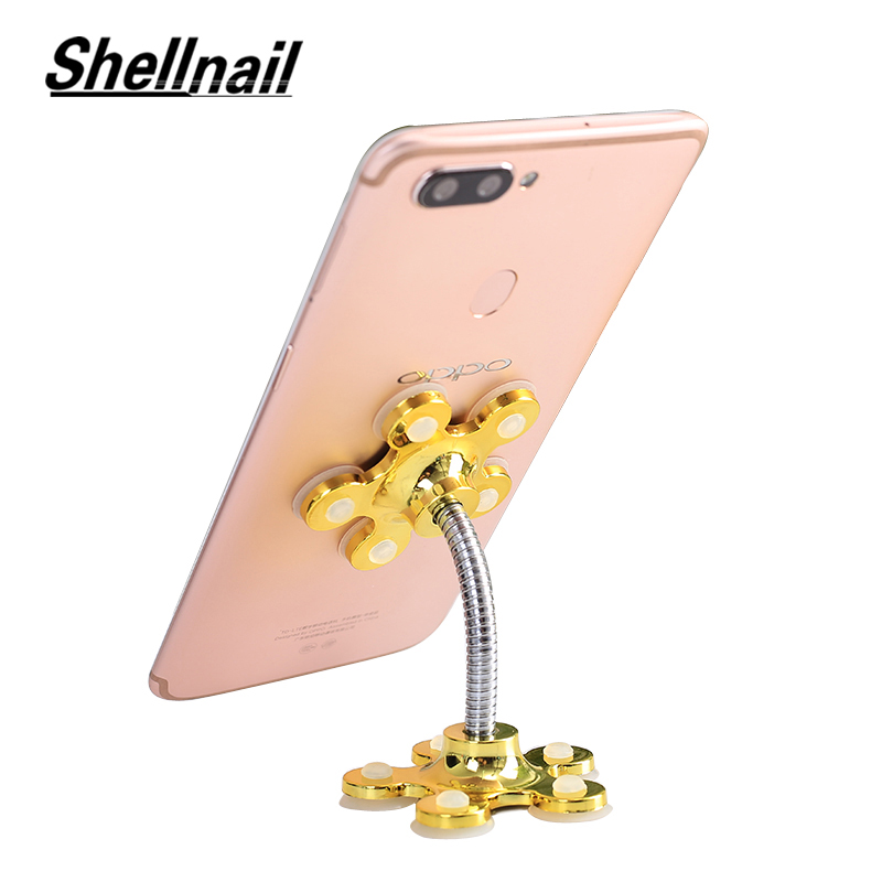SHELLNAIL Car Mount Mobile Phone Holder for Xiaomi Double-Side Sucker GPS Desktop Phone Stand For iphone X Suction Cup Support