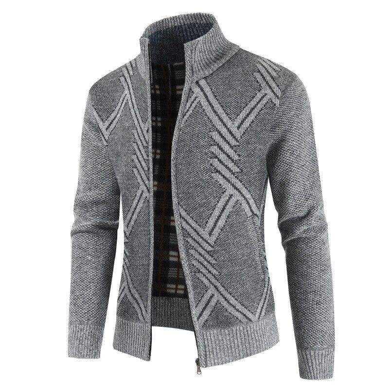 Laamei Men Autumn Sweater Coat Thick Casual Sweater Cardigan Men Brand Slim Fit Knitwear Outerwear Warm Winter Sweater Jumper