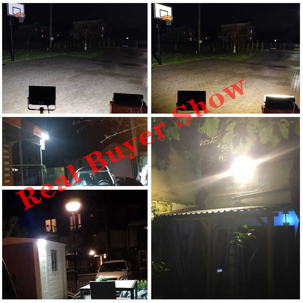 Reflektor Lampu Sorot Led 50W AC 220V 230V Outdoor Lampu Lampu Lampu Sorot Led Flood Light Projector Eksterior Tahan Air