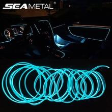 3/5 meter Auto Innen Licht Dekorative Streifen 12V Auto LED Streifen EL Draht Seil Auto Atmosphäre Decor Lampe Flexible neon Licht DIY