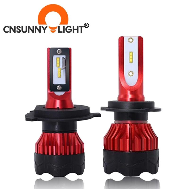 CNSUNNYLIGHT автомобильные лампы, 2 шт. K5 6500K светодиодный H7 H4 H1 H11 9005 Автомобильные лампы для фар машины 8000Lm 48 Вт/пара, Промокод: NEZABIVAYMASKU Скидка 150 ру...