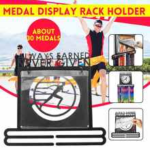 Medaille Hanger Rvs Medaille Houder Display Rack Running Zwemmen Gymnastiek Bike Sport Medaille Gift Decoratie Met 10 zakken(China)