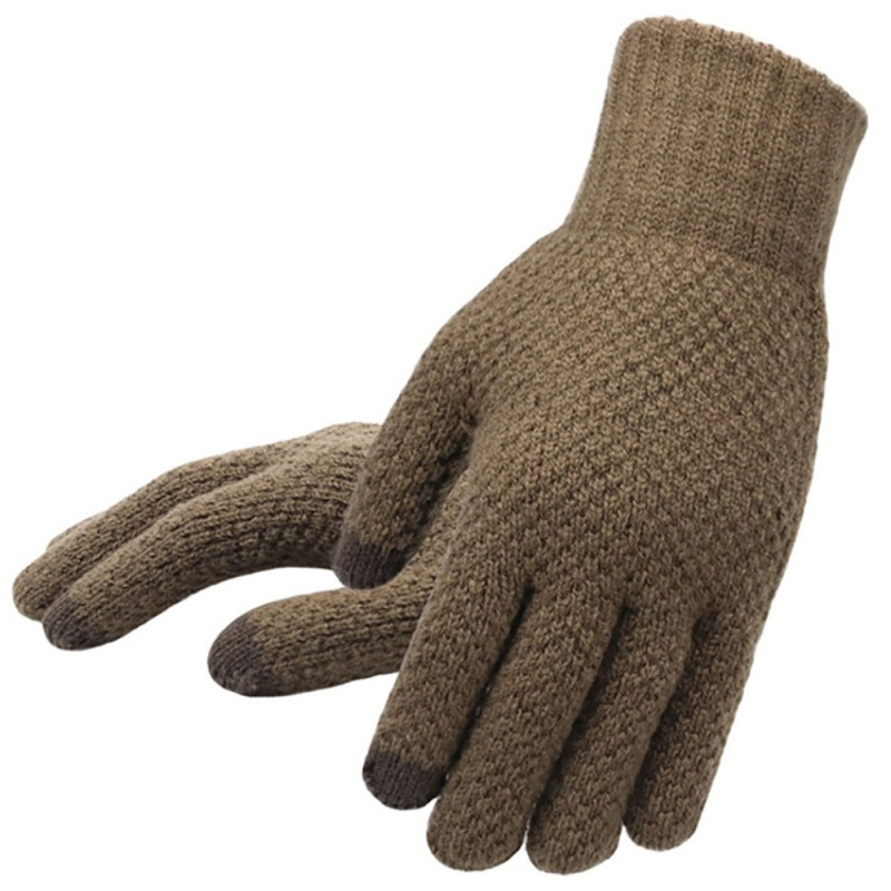 2019 New Autumn And Winter Knit Gloves Men's Warm Riding Sports Men's Gloves