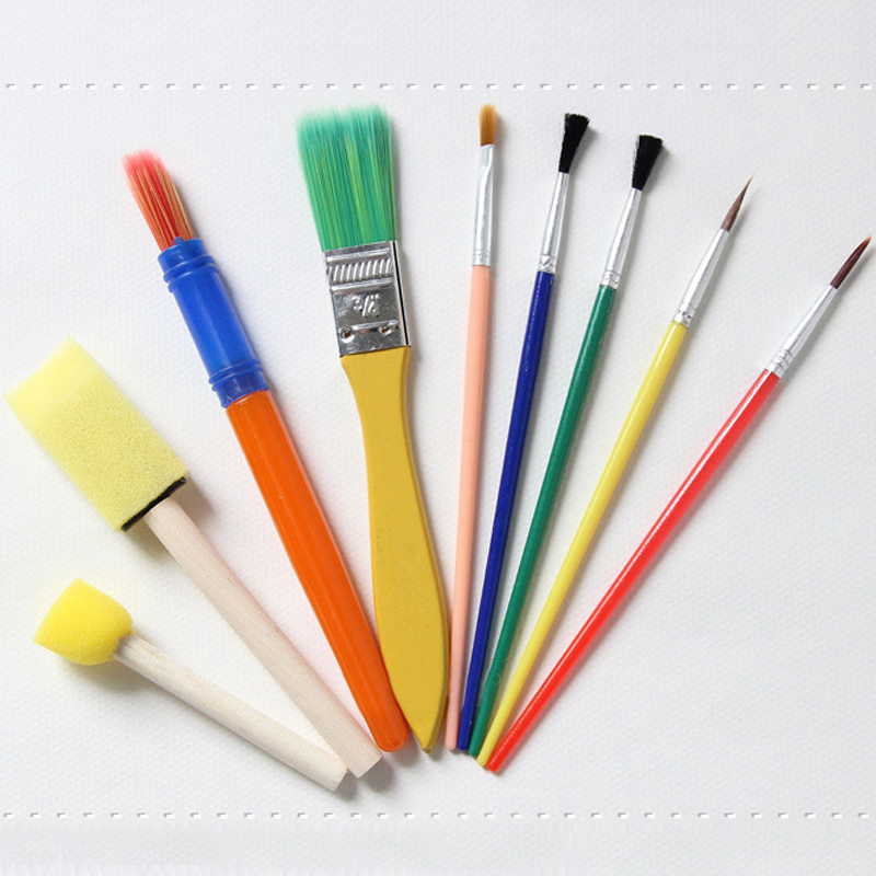 Arts Crafts Supplies Kids Drawing Toys Paint Brushes Stationery Supplies Oil Watercolor Painting Brushes Water Powder