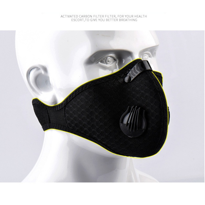 Outdoor Sporting Riding Activated Carbon Mask Reusable Dustproof Face Masks For Running