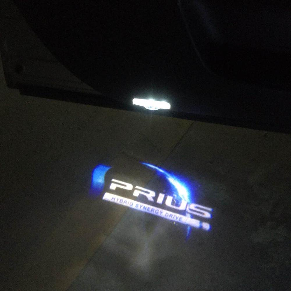 2pcs Car Door Light LED Pattern Ghost Laser Projector Lamps Car Door Welcome Light For Toyota Prius Car Accessories Decor Gadget