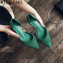Pointed Heels Fashion Low Heel Shoes Ele