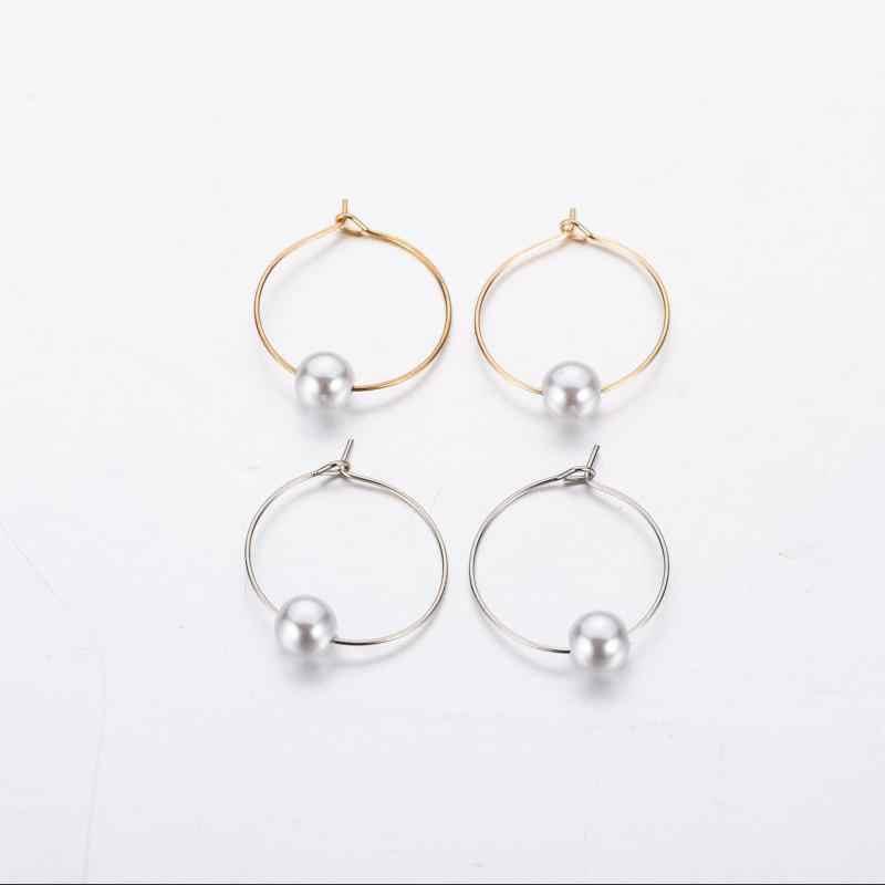 Hot europejska i amerykańska moda popularne nowe kolczyki proste osobowość projekt biżuteria geometryczne kolczyki z pereł dziewczyna biżuteria