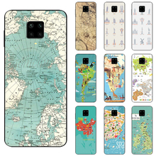 Case Redmi Note 6 7 8 8T 9 9T 9S 10 4G Pro Max Anti fall Soft Phone Cover case Travel in the world map Plane plans