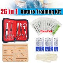 26 en 1 Kit de formation chirurgicale de Suture de peau médicale actionnent la ressource d'enseignement molle de ciseaux d'aiguille de coussin de Silicone de Suture