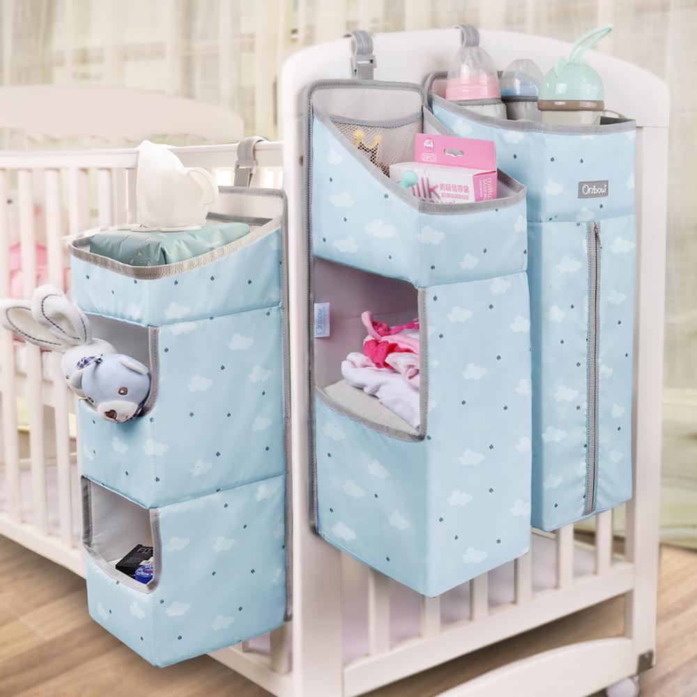 Orzbow Baby Bed Crib Organizer Opknoping Zakken Voor Pasgeboren Baby Beddengoed Set Organizer Luier Opbergtas Kids Bed Linnen