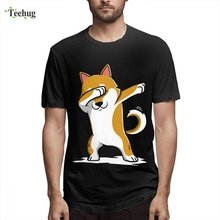 Dabbing Shiba Inu Funny T Shirt Fashion For Male Casual Top Design Quality Cotton Camiseta For Man man s 3d print man mazinger z hot sale t shirt funny top design pure cotton for male camiseta