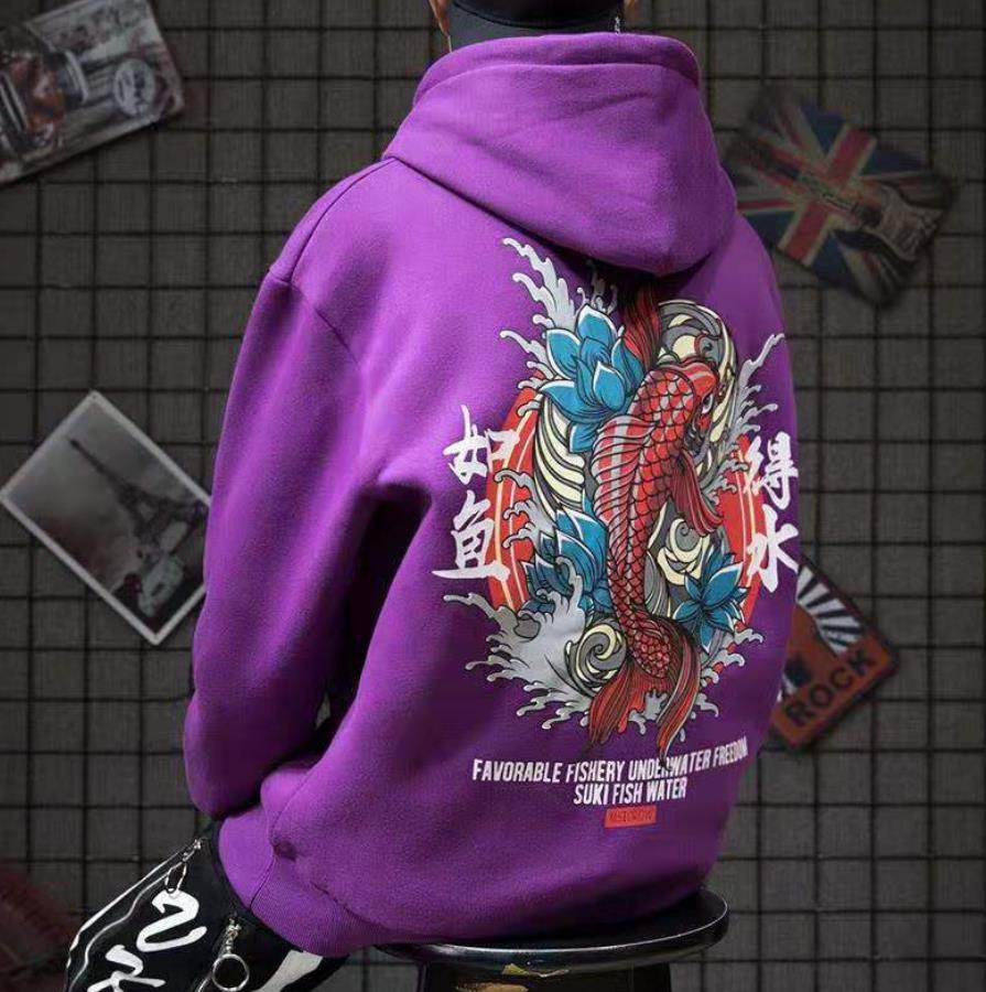 Japan Hoodies Men Casual Autumn O-neck Tops Punk Male High Street Hoodie Hip Pop Harajuku Cool Fashion Hoodies Streetwear