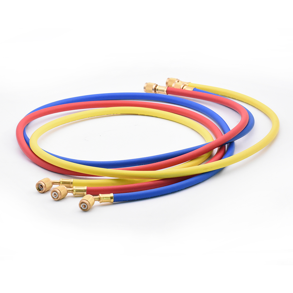 3Pcs 1.5m Refrigeration Charging Hoses 1/4