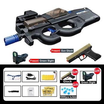 New Electric P90 Graffiti Edition Gun Toy Live Assault Sniper Airsoft Air Gun Weapon Outdoor  1