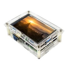 For Raspberry Pi 4 Model B Acrylic Case Transparent Shell for 3.5inch HDMI Touch Screen Display Enclosure fine source ykl 1 acrylic copper case set for banana pi transparent