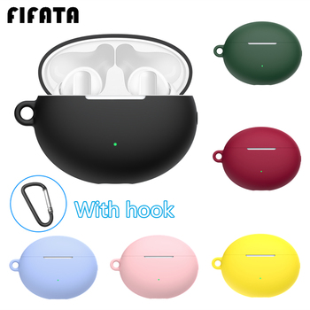 FIFATA Silicone Earphone Cover Case For Huawei Freebuds 4i Headset Protector Shell Accessories For Freebuds 4i Case With Hook 1