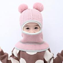 Doitbest/шарик-помпон, детская зимняя бархатная шапка с ушками, Детская осенняя шапка с капюшоном, теплая шапка, шапка для фотосессии, шапки для мальчиков и девочек