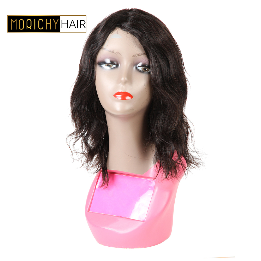 MORICHY Brazilian Body Wave Machine Made Wigs For Women Wavy Short Cut Bob Wigs Non-Remy Human Hair Glueless Natural Color Wig