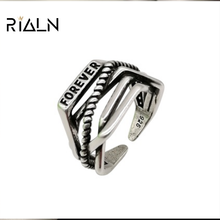 In March, the new antique silver adjustable women's ring fashion series jewellery matches with everyday all-match
