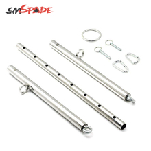 SMSPADE With 4 Rings Bondage Adjustable Expandable Stainless Steel Silver Spread
