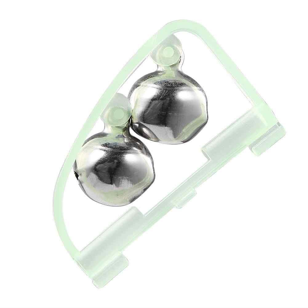 Impermeable fluorescente caña de pescar Polo protector de esquina flotador alarma de doble campana anillo de alerta noche pesca de acero inoxidable aparejos caja Accesorios