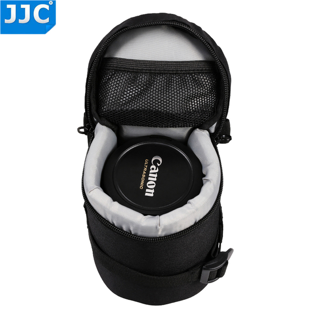 JJC DLP 1 Lens Pouch Nylon Deluxe Case Water resistant Protector Bag For Nikon AF S Nikkor 50mm 1:1.8G/Fujifilm XF 23mm f/1.4 R